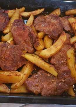 Fűszeres tarja krumplival