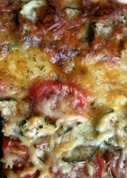 Két-sajtos zöldséges lepény