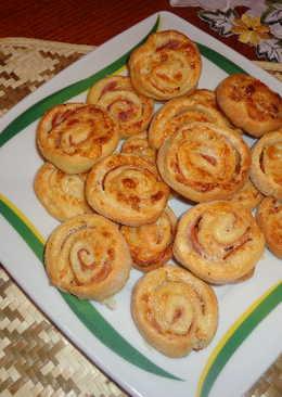 Túrós-sonkás sajtos csiga