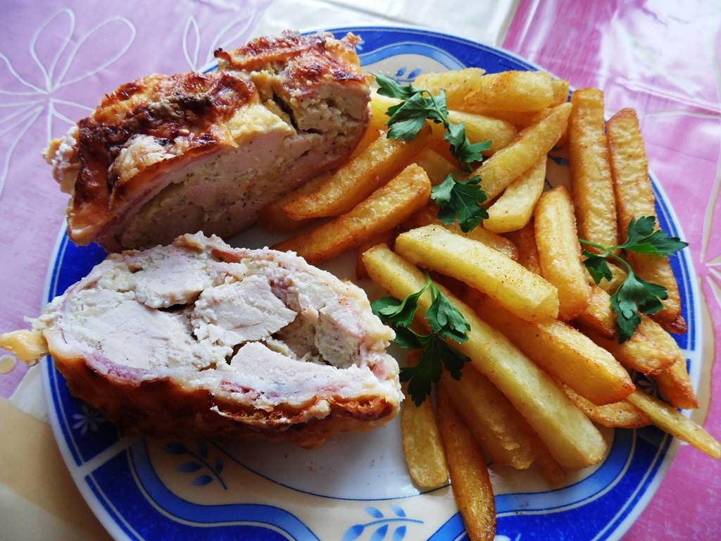Baconos csirkemell recept őzgerinc formában főfotó