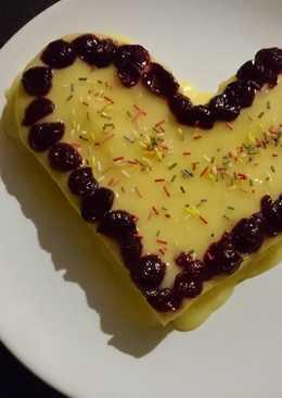 Szív alakú tejespite #valentinnap