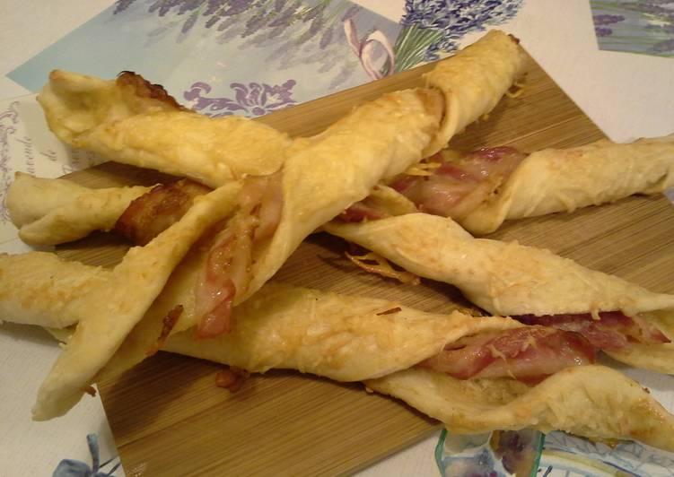 Mustáros-baconös csavart rudak