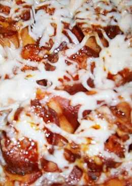 Kolbászos, főtt-füstölt tarjás pizza 🍕