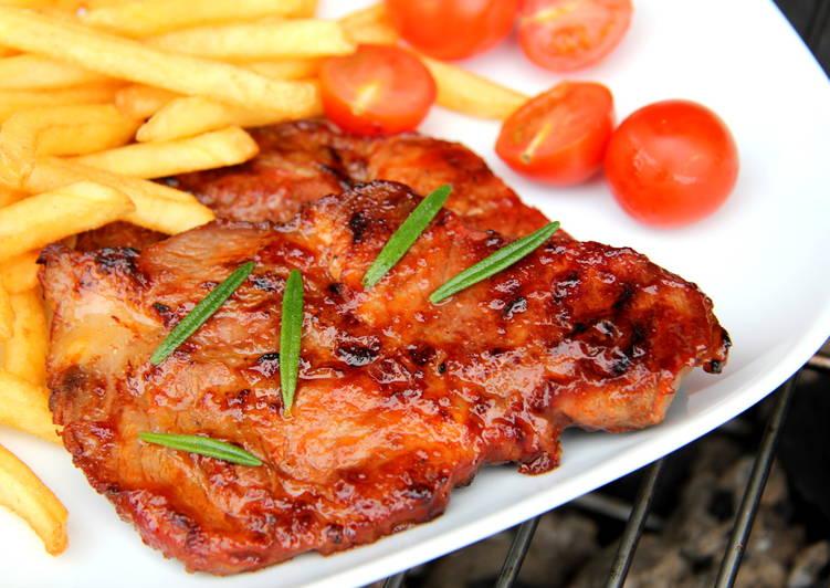Grillezett sertéstarja recept BBQ szószban