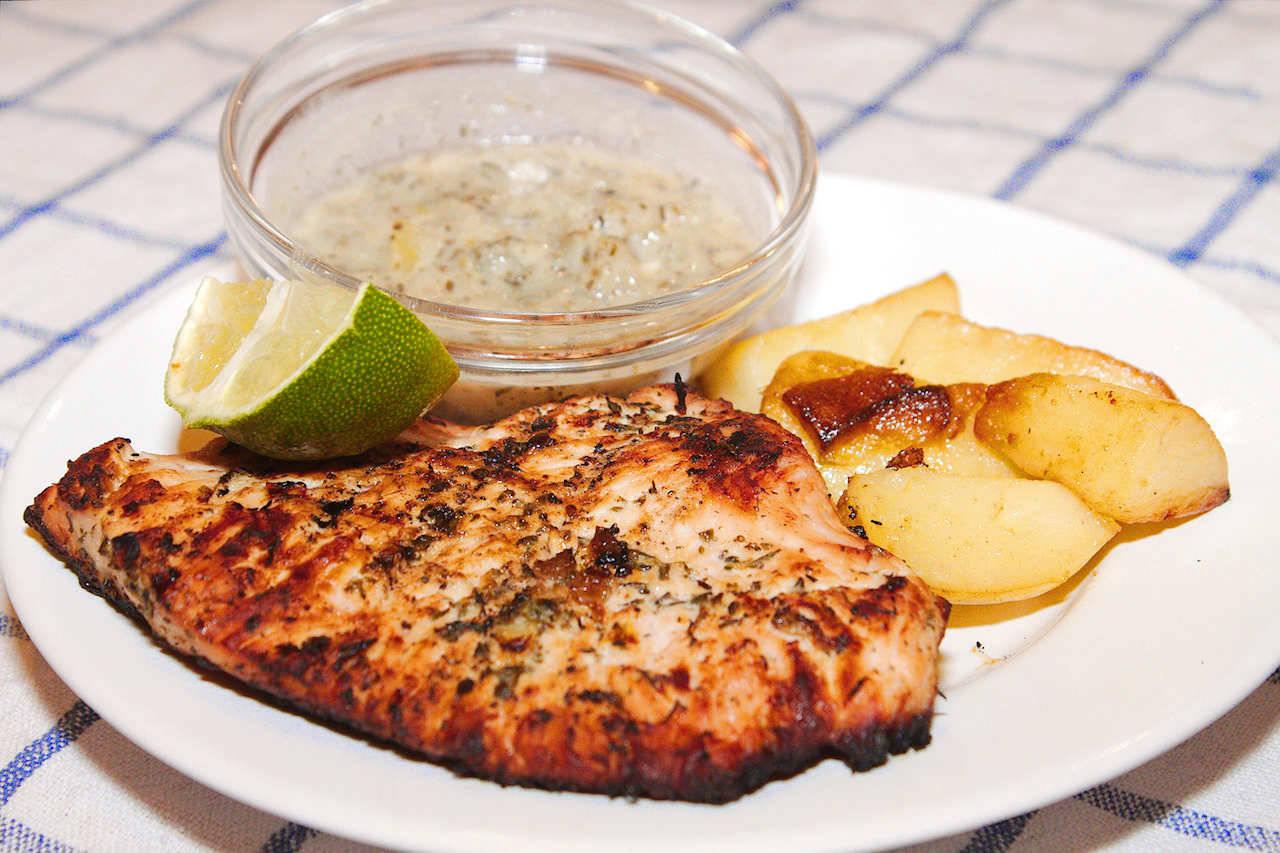 Grillezett pulykamell limeos pácban recept főfotó