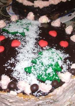 Méteres süti torta formába sütve