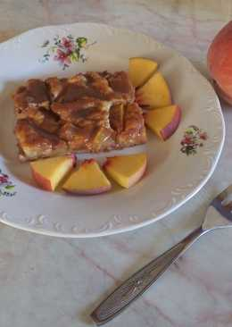 Egyszerű őszibarackos-ricottás sütemény