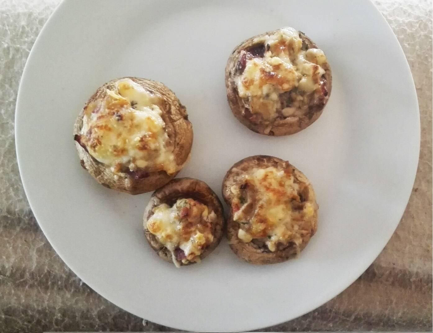Kapros túróval töltött sült gombafejek recept főfotó