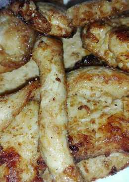 Omlós, grillezett enyhén mustáros csirkemell