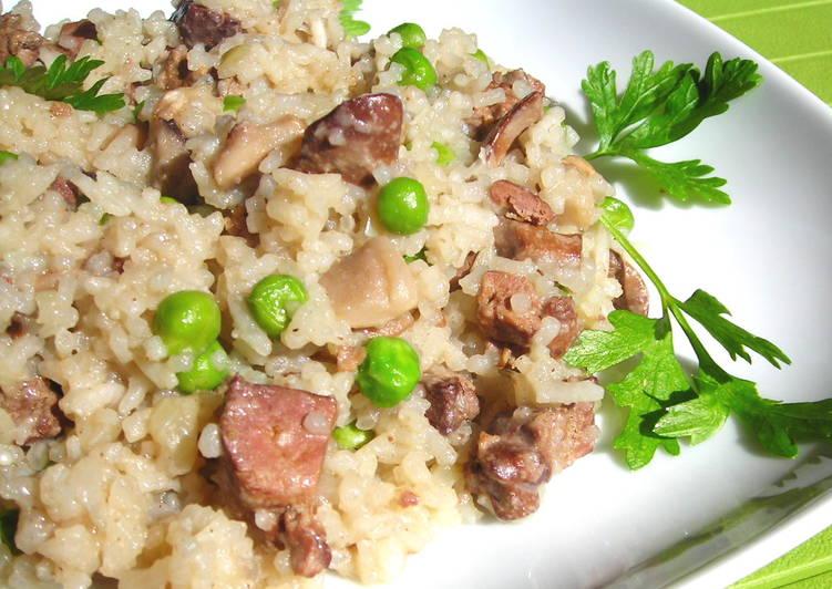 Gombás-májas rizs