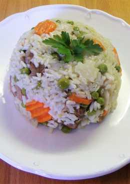 Zöldséges rizses hús