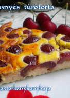 Cseresznyés túrótorta (Gluténmentes, lisztmentes)