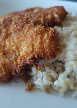 Sajtba panírozott csirke