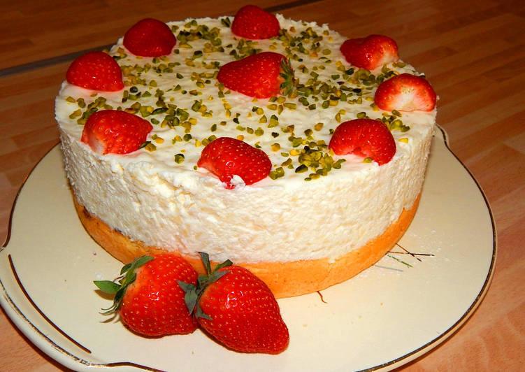 Tejszínes tejberizs torta