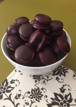 Vendégváró csokis, banános piskótatallér