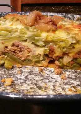 Borított rakott zöldbab (low carb)