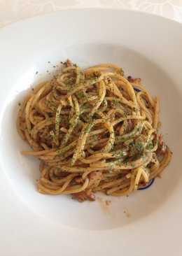 Diós-csípős spagetti
