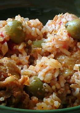 Spanyolos, rizses csirke