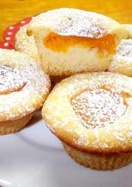 Sárgabarackos tejszínes muffin