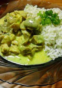 Currys-tejszínes sertésragu