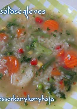 Rizses zöldségleves