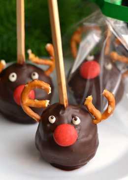 Karácsonyi rénszarvasos popcake
