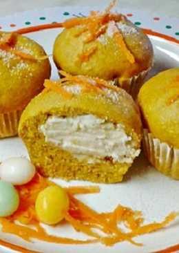 Mascarponéval töltött répás muffin