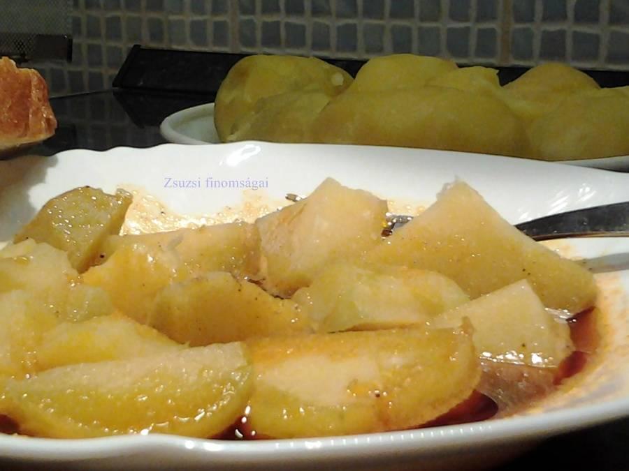 Héjában főtt burgonya, pirospaprikás zsírban főfotó
