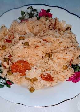 Csirkés, Chorizo-s paella