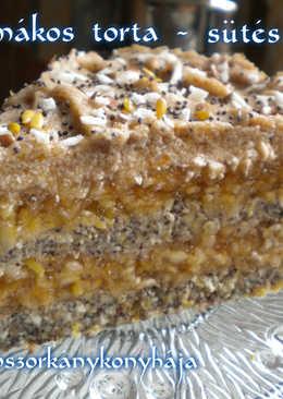 Almás-mákos torta - sütés nélkül