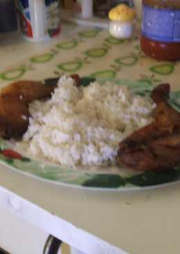 Libacomb zacskóba sütve, rizs körettel