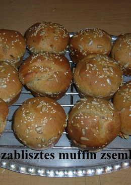 Tönköly és zablisztes muffin zsemle