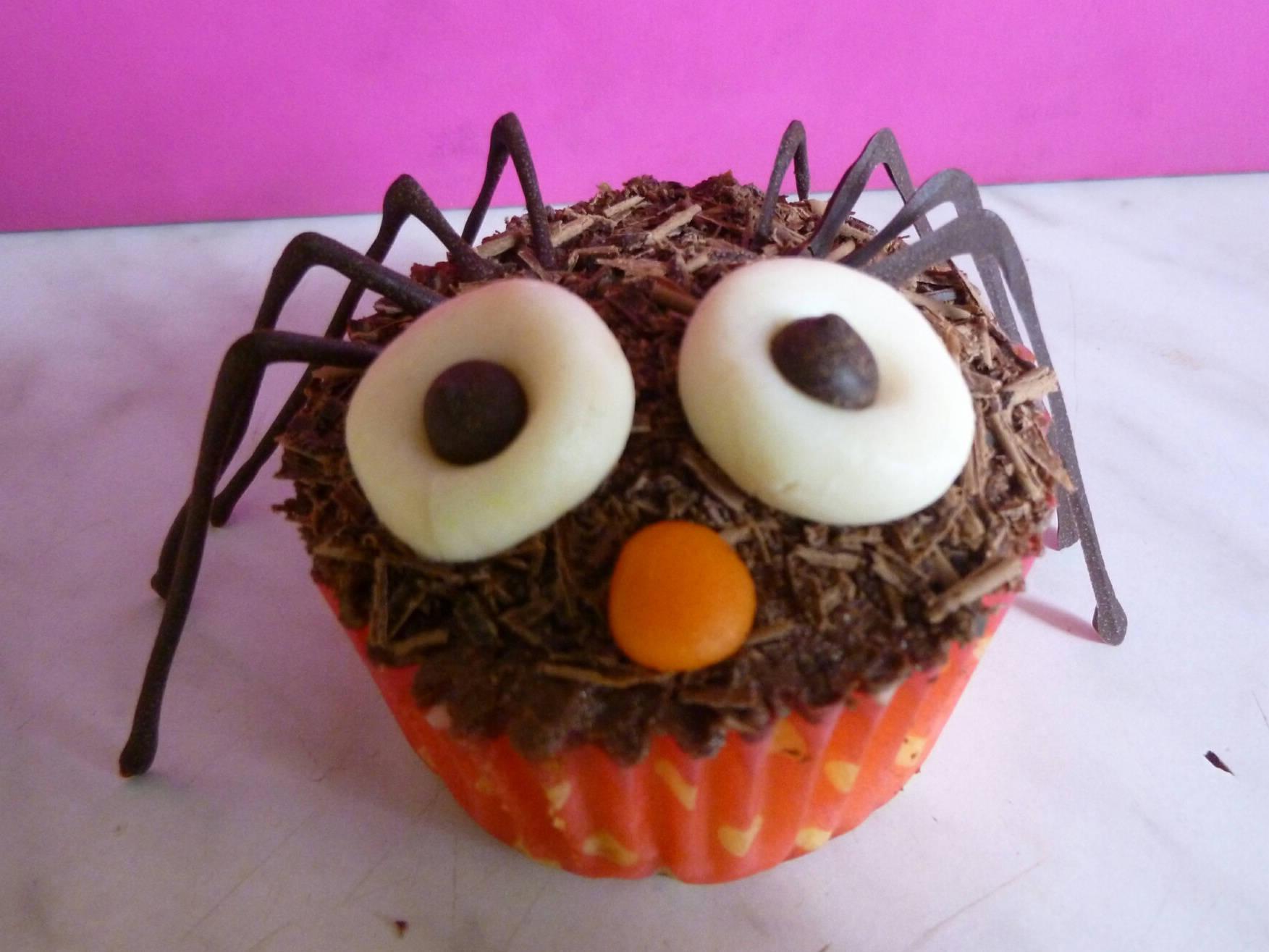 Halloween pók muffin recept főfotó