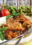 Bazsalikomos, nektarinos csirkecombfilé
