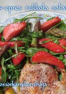 Spárgás-epres rukkola saláta