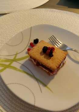 Túrós-gyümölcsös keksz