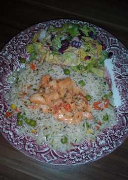 Tejszínes fokhagymás garnéla, gránátalmás salátával