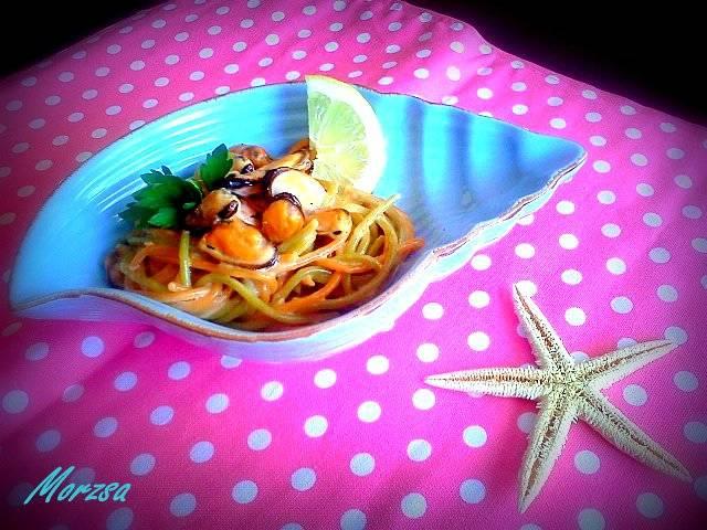 Citromos kagylós spagetti recept főfotó