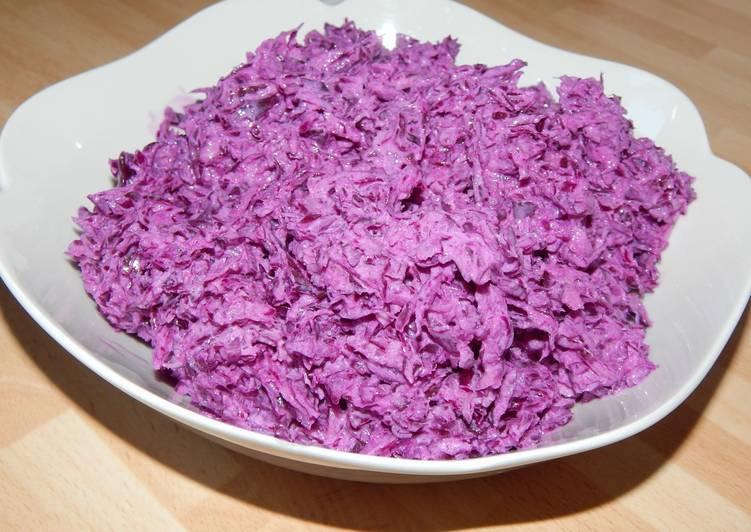 Gyors lilakáposzta saláta