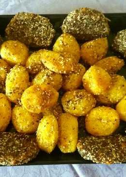 Lenmagos rántott csirkecomb szezámos mogyoró burgonyával gluténm