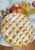 Almás-rácsos pite