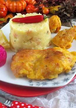 Párizsi bundában sültcsirkecomb és csirkemell falatkák (paleo)