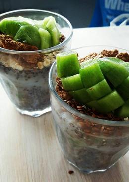 Kivis kókusztejes chia pudding