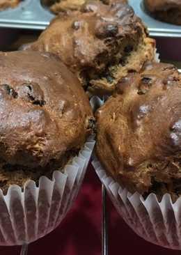 Diós, banános óriás muffin