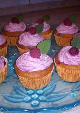 Málnás muffin