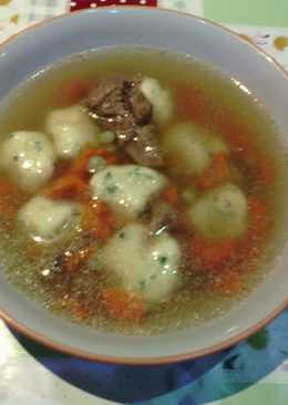 Marhahúsleves krumpligombóccal