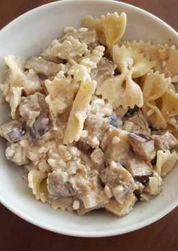 Padlizsános-cottage cheeses tészta
