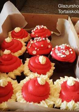 Csokoládés cupcake mikulásra