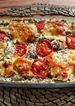 Mozzarellás-paradicsomos csirke
