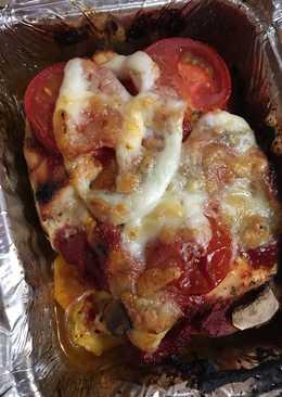 Olaszos zöldséggel rakott csirkemell